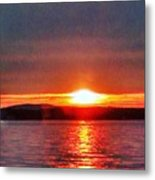 Sunset On A Yacht  Metal Print
