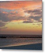 Sunset On An Idyllic Island In Maldives Metal Print