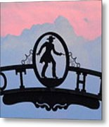 Sunset On Boot Hill Metal Print