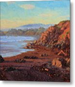 Sunset On Cambria Ca Metal Print