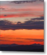 Sunset On Caney Fork Overlook Metal Print