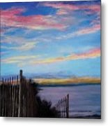 Sunset On Cape Cod Bay Metal Print