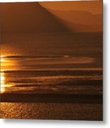 Sunset On Coast Of North Wales Metal Print