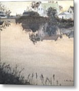 sunset On Consecon Metal Print