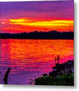 Sunset On Crab Orchard Metal Print