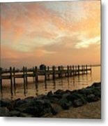 Sunset On Dewey Bay Metal Print