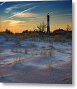Sunset On Fire Island Metal Print