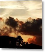 Sunset On Fire Metal Print