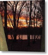 Sunset On Fox River Metal Print
