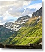 Sunset On Going To The Sun Road Metal Print
