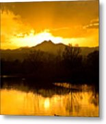 Sunset On Golden Ponds Metal Print