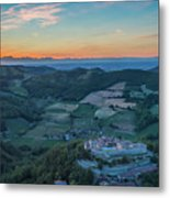 Sunset On Hills Metal Print