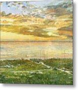 Sunset On Hobie Cat Beach, Siesta Key, Access 8 Metal Print