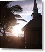 Sunset On Kona Church  Metal Print
