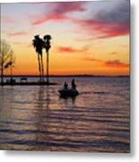 Sunset On Lake Dora At Mount Dora Florida Metal Print