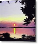 Sunset On Lake Dora Metal Print
