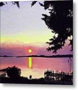 Sunset on Lake Dora Metal Print
