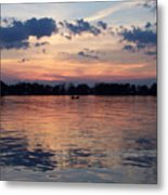 Sunset On Lake Mattoon Metal Print