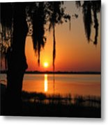 Sunset On Lake Minneola Metal Print