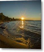 Sunset On Lake Superior Metal Print