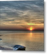 Sunset On Long Island Sound Metal Print