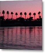 Sunset On Long Beach Bay Metal Print