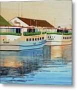 Sunset On Mackinac Metal Print
