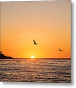 Sunset On Monterey Beach Metal Print