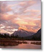 Sunset On Mount Rundle Metal Print