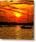 Sunset On Muskegon Lake Metal Print