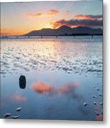 Sunset On New Year's Day Tyrella Beach Metal Print