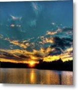 Sunset On Nicks Lake Metal Print