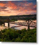 Sunset On Ohio River  Metal Print