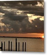 Sunset On Peace River Metal Print