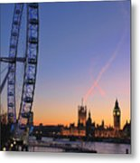Sunset On River Thames Metal Print by Jasna Buncic