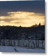 Sunset On Sabattus Lake Metal Print