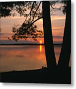 Sunset On Sister Bay Metal Print