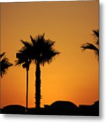 Sunset On Socal Beach Metal Print