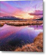 Sunset On Sparks Marsh Metal Print