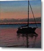 Sunset On St. Andrew Bay Metal Print