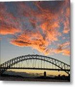 Sunset On Sydney Harbor Metal Print