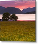 Sunset On The Ardgour Mountains Metal Print