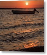Sunset On The Bay Lavallette New Jersey  Metal Print