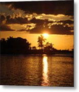 Sunset On The Bay Metal Print