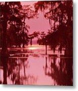 Sunset On The Bayou Atchafalaya Basin Louisiana Metal Print