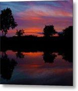 Sunset On The Bladnoch Metal Print