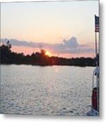 Sunset On The Cape Fear River North Carolina Metal Print