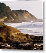 Sunset On The Coast Metal Print