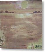 Sunset On The Desert Metal Print