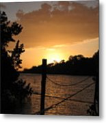 Sunset On The Dock II Metal Print